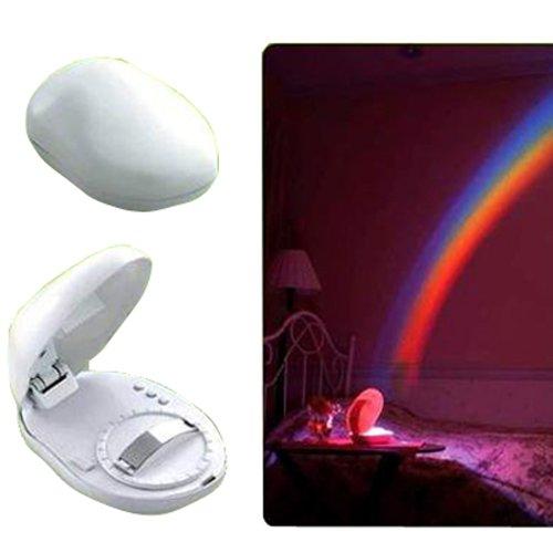 (LED Rainbow Projector Room Night Light W/3 Display Mode)