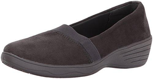 Skechers Women's Kiss-Royal Plush Loafer Flat Charcoal