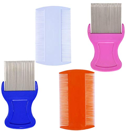 Head Hair Comb Double Sided Removal Dandruff Comb (Fine Lice Comb)