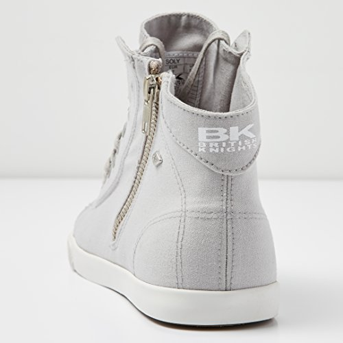 SOLY Knights MONTANTE BASKETS British Gris Clair FEMMES Agffn