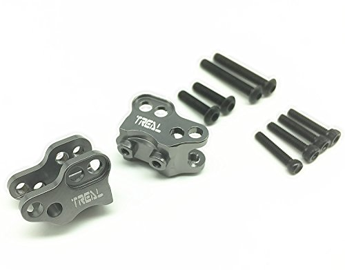 Link Mount - Treal Aluminum Front and Rear Link Mounts 1 Pair Set for SCX10 II Crawler RC-Gray