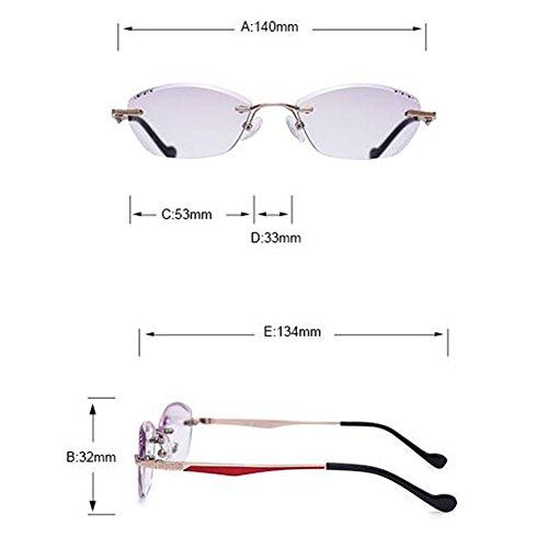 Inlefen Cadre Lecture violet de Purple Sans Femmes Lunettes Mince Sans Teinté Lentille Gradient Monture Lunettes rwrRpqZ