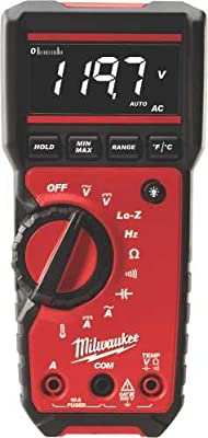 "MILWAUKEE ELECTRIC TOOL 2217-20 Milwaukee Digital Multimeter, 2.48"" x 11.02"" x 7.48"""