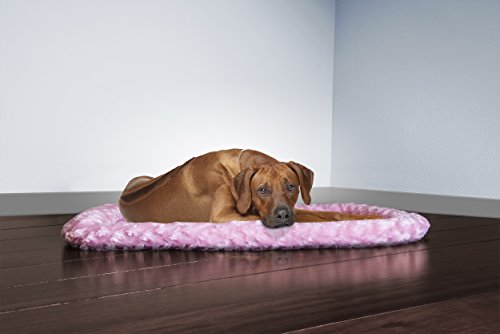 Image of FurHaven Pet Kennel Pad | Ultra Plush Bolster Pet Bed for Kennels & Crates, Strawberry, X-Large