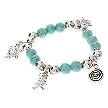 loom bracelet @Vintage Bohemian Style Turquoise Turtle Skull Bracelet