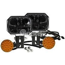 """Truck-Lite 80875 LED 5"""" x 7"""" Rectangular Snow Plow Lights Kit 1300 Lumens 9-33V"""
