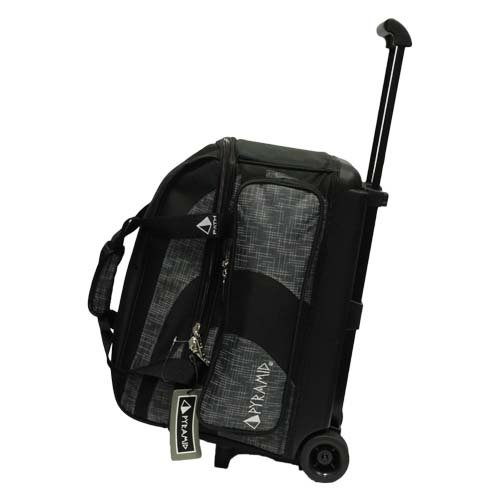 Pyramid Path Deluxe Double Roller Bowling Bag (Black/Charcoal Circuit)