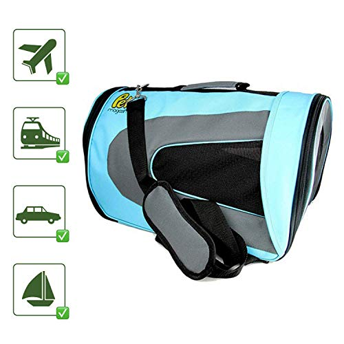 Pet Magasin Soft-Sided Pet Travel Carrier (Airline Approved) for Cats, Small Dogs, Puppies and Other...