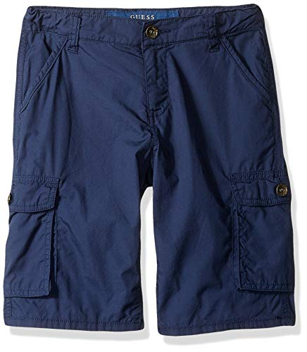 GUESS Boys Classic Cargo Shorts, Deck Blue, 10