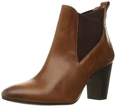 Johnston & Murphy Women's Amber Ankle Bootie, Teak 215, 6 M US