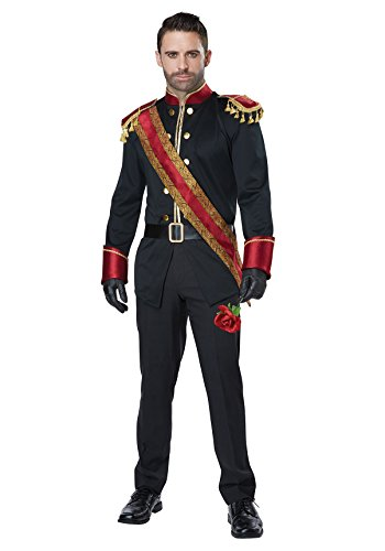 [Mens Dark Prince Royal Costume size Medium] (Prince Charming Costumes For Men)