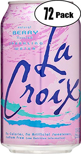 La Croix Berry Naturally Essenced Flavored Sparkling Water, 12 oz Can (Pack of 72, Total of 864 Oz)