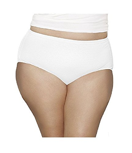 "Fruit Of The Loom Women's Fit For Me Plus Size 100% Nylon Briefs (Value Packs) (5, Size 12 (52-55.5""))"