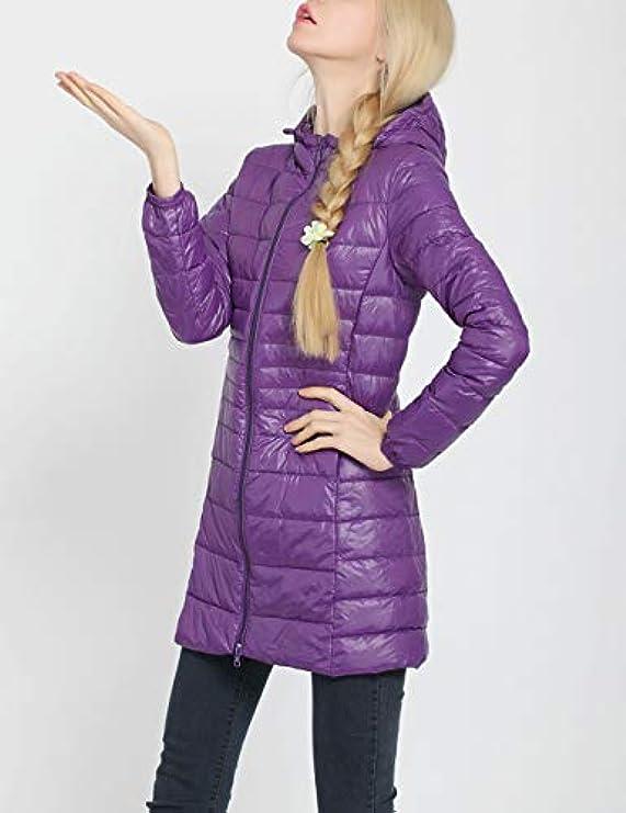 Donna Eiderdown Outwear Caldo Cappuccio Impermeabile Da Besbomig Con Piumino Traspirante 67qInf