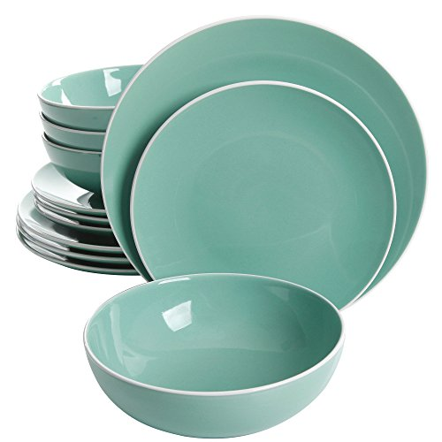 Price comparison product image Gibson 12-pc. White Rim Dinnerware Set One Size
