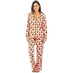 8dc6d97b97 Ashford   Brooks Women s Cozy Micro Fleece Pajama Set - Pink   Orange ...