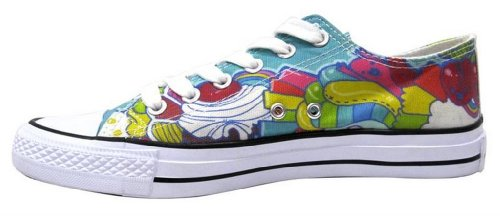 Apparel Dynasty Women's Sugar Rush Multicolored Sneaker 9 M US