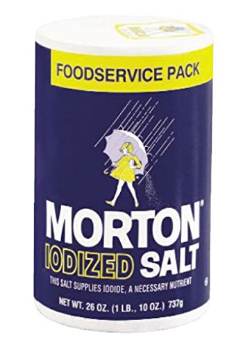Morton Iodized Table Salt for Foodservice, 26 Ounce (Pack of 24) -