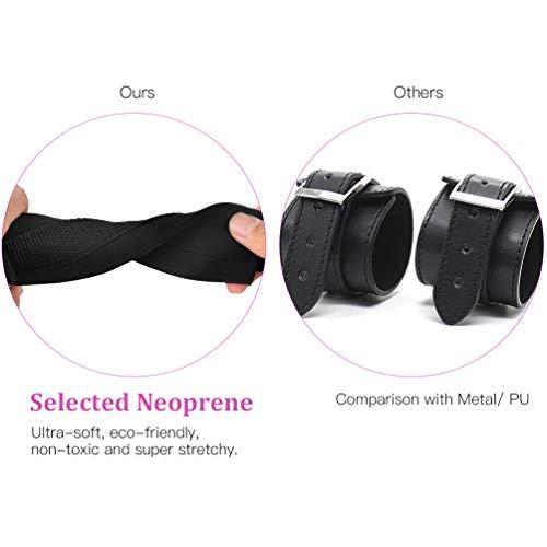UTIMI-Cross-Handcuffs-BDSM-Adjustable-Restraints-for-SM-Bracelets-Beginners-Bondage-Kit-with-D-Ring-Sex-Toys-for-Women-and-CoupleBlackDacron