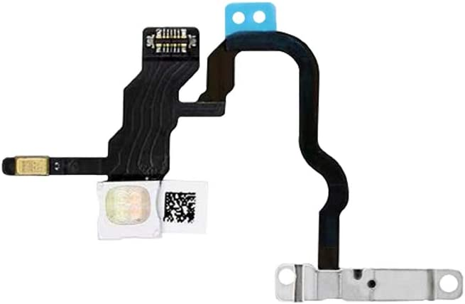 HKCB Power Button On/Off Switch LED Flash Lights Connector Flex Cable Compatible with iPhone X 5.8''