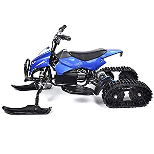 Sunzy Snowmobiling, Snowmobile Crawler Type 24V12A Lithium Battery can Carry 155LB / Suitable for Children and Adults Over 6 Years Old,Blue