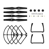 Holy Stone HS100 Black RC Drone Quadcopter Spare Parts Crash Pack (4 Black Blades + 4 Propeller Guards + 2 Landing Gears + 4 Blades Screws +4 Bottom Body Screws 4 Blades Caps + 4 Fixed Rubber Parts for Blades + 4 Blades Shims )