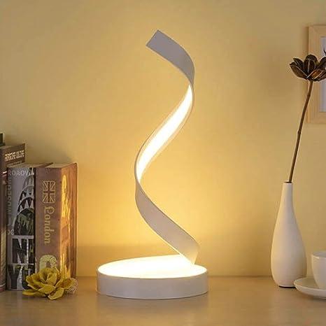 Modeen Lampada da tavolo a spirale LED, lampada da tavolo curva LED ...