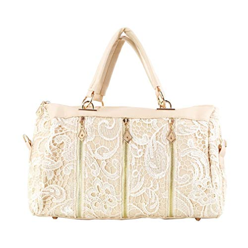 Pink Space Easy Messenger Elegant Bag Lace with Dual Use Roomy Carry Hexingshan to Handbag Bag wqSAU6yWWf