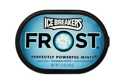 Ice Breakers Frost Peppermint Pucks, 1.2-Ounce Pucks (Pack of 20)