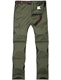 Women's Outdoor Quick Dry Convertible Lightweight Hiking Fishing Zip Off Cargo Pant #1088F