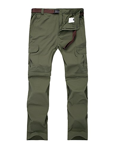 Jessie Kidden Women's Outdoor Quick Dry Convertible Lightweight Hiking Fishing Zip Off Cargo Pant #1088F,Army Green,US - Hunting Pants Lightweight