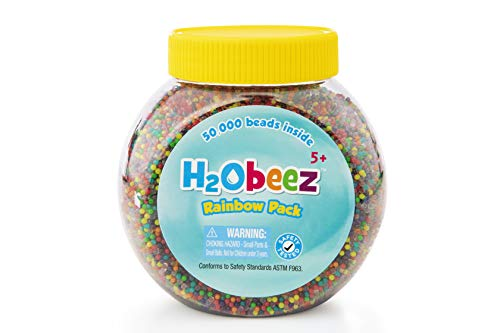 Orbeez -H2Obeez Rainbow Pack-50,000 Orbeez Water Beads, Non-Toxic, Safety-Tested Kids Sensory/Tactile Toy. Refill for all Orbeez SPA items. Filler for Vases & Plant. Great for Wedding & Home Décor.