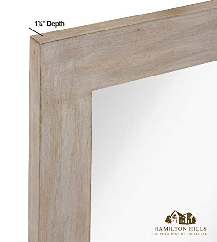 Hamilton Hills White Washed Wood Framed Mirror 30 Quot X 40