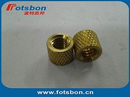 Kunrled Brass,Nature,PEM standrad, Ochoos STKB-440-24 Thru-Threaded Molded-in Insert