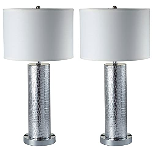 Table lamp outlet on base amazon milton greens stars a8324t s riomata elegant table lamp with dual 3 prong outlets 8 inch set of 2 aloadofball Images
