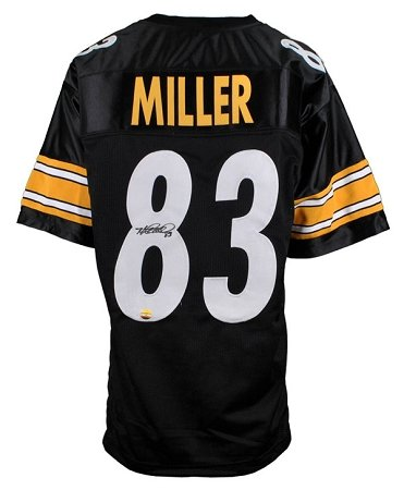 heath-miller-autographed-pittsburgh-steelers-black-custom-jersey
