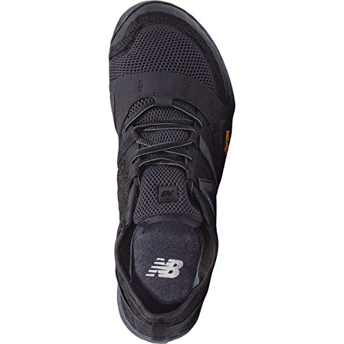 New Balance Men's Minimus 10v1 Trail Running Shoe,Black/Silver,US 10 D