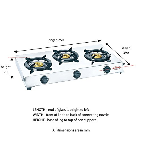 Buy Prestige 40150 Perfect Stainless Steel 3 Burner Gas Stove Metallic Silver Online At Low Prices In India Amazon In