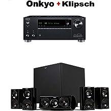 Onkyo TX-RZ630 9.2 Channel 4K Network A/V Receiver Black + Klipsch HDT-600 Home Theater System Bundle