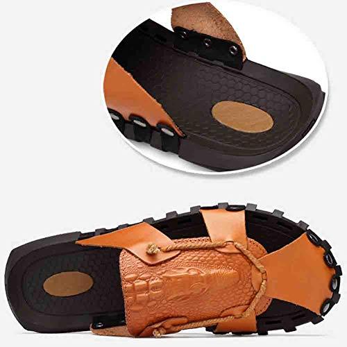 Brown Comfort Uomo Antiscivolo Baotou Sandali 41 Casual Da Soft Antiscivolo Scarpa g4AFBCq