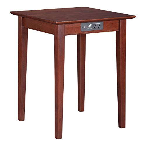 Shaker Printer Stand - Atlantic Furniture Shaker Printer Stand with Charging Station in Walnut