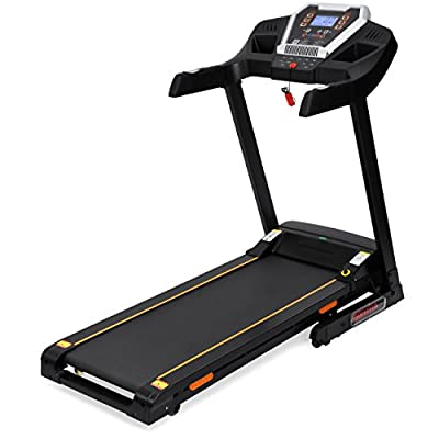 Best Choice Products 900W Folding Electric Bluetooth App-Control Treadmill w/ Incline Adjuster and Speakers - Black