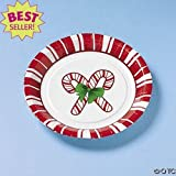 Holiday Candy Cane Dessert Plates