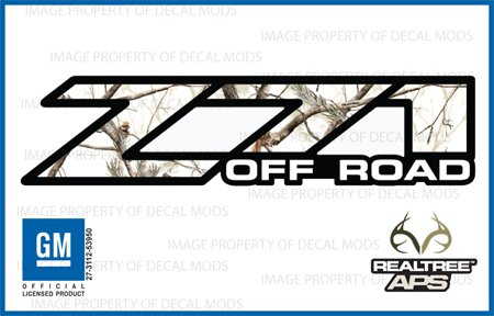 gmc sierra realtree ap snow z71 off road decals stickers aps 2001 2006 bed side 1500 2500 hd. Black Bedroom Furniture Sets. Home Design Ideas