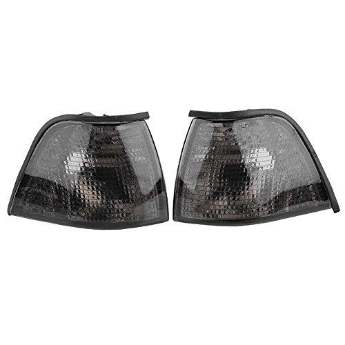 1Pair Smoked Turn Signal Corner Light Lamp Lens Replacement for BMW 3 Series 318i 325i E36 4DR Sedan&Wagon 92-98