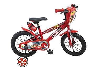 CARS Bicicleta 16 Pulgadas de 5 a 8 años (25115), Multicolor ...