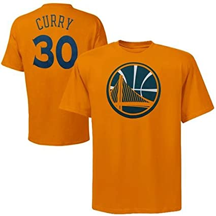 ee57571a954 Majestic Stephen Curry Golden State Warriors Gold Jersey Name and Number T- shirt XX-