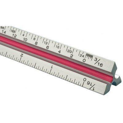 T Series Aluminum Triangular Metric Scale Ruler by Fairgate