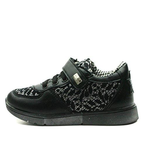 MS010 Miss Sixty Laceup Shoe Sporty for Girls in Black & Silver Trim >      > Spitze-Schuh Sportlich für Mädchen im Schwarzen und im Silber ordnet