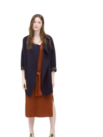 Zara Double Breasted Jacket M Navy Blue At Amazon Women S Clothing